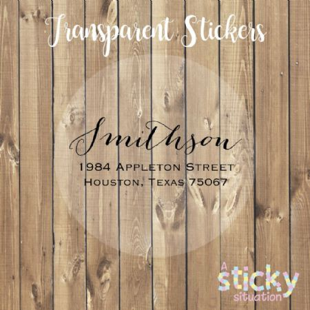 Personalised Transparent Address Labels
